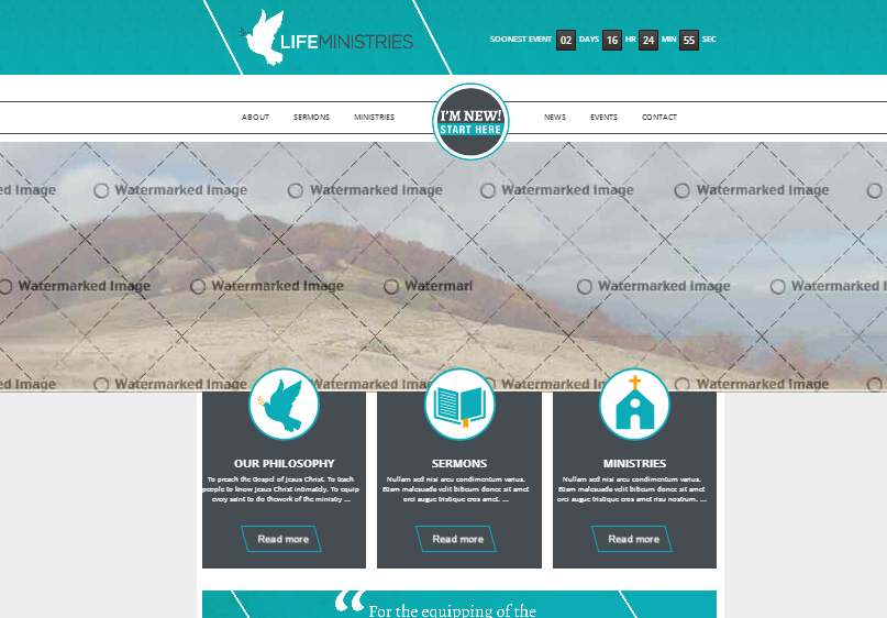 Life Ministries. HTML/CSS layout modified from commercial theme.
