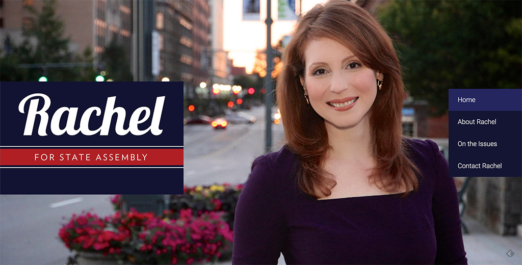 Journalist Rachel Barnhart's new site for her bid to become the next New York State Assemblyperson.