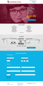The new, improved Rochester Optical Stores website.