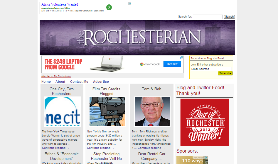 Rachel Barnhart's personal news blog. WordPress driven site with custom plugins and theme by Holistic Networking.